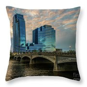Days End In Grand Rapids Throw Pillow