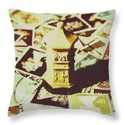 Days From The Vintage Post Office Throw Pillow