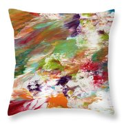 Days Gone By- Abstract Art By Linda Woods Throw Pillow