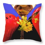 Happy Cocktail Hour Throw Pillow
