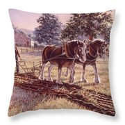 Days Of Gold Throw Pillow by Richard De Wolfe