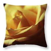 Days Of Golden Rose Throw Pillow