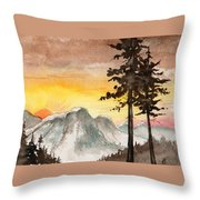 Day's Passing Throw Pillow