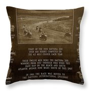 Daytona 200 Plaque Throw Pillow