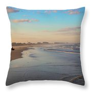 Daytona Beach At Sunset, Florida Throw Pillow