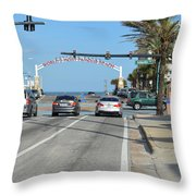Daytona Beach Throw Pillow
