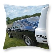 Daytona Charger Throw Pillow