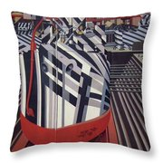 Dazzle Ships In Drydock At Liverpool Throw Pillow