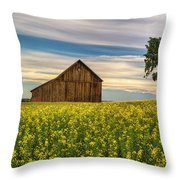 Dazzling Canola In Bloom Throw Pillow