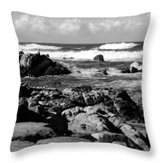 Dazzling Monterey Bay B And W Throw Pillow