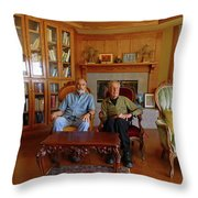 Db6362 Ed Cooper With Fred Beckey In Library 2013 Throw Pillow