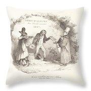 D?bit D'albums Avec Proc?d?s Nouveaux (new Methods For The Sale Of Lithograph Albums) Throw Pillow