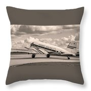Dc-3 Vintage Look Throw Pillow