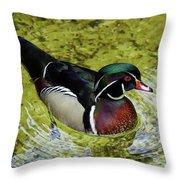 Dc Duck Throw Pillow