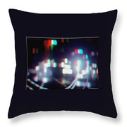 Dc Lights - Use Red-cyan 3d Glasses Throw Pillow