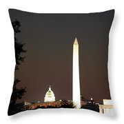 Dc Monuments Triumvirate Throw Pillow
