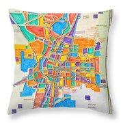 De Colores Albuquerque Throw Pillow