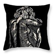 De Espalda Throw Pillow