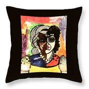 De Femme Throw Pillow