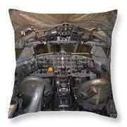 De Havilland Dh106 Comet 4 G Apdb Cockpit Full Size Poster Throw Pillow