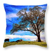 De Hoek Farm Throw Pillow