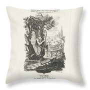 De Wereld, Jeremias Wachsmuth, After Gottfried Eichler II, C. 1758 - C. 1760 Throw Pillow