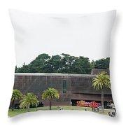 De Young Museum In San Francisco, California Throw Pillow