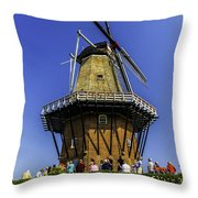 De Zwaan Windmill In Holland Throw Pillow