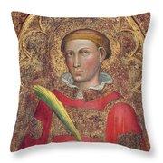 Deacon Saint, With Saint Anthony Abbot Throw Pillow