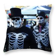 Dead Alive Skeletons  Throw Pillow