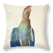 Dead Blue Roller Throw Pillow