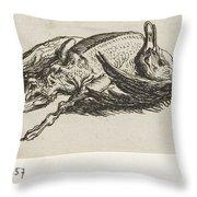 Dead Duck, Jacob Elias Van Varelen, After Jacob De Gheyn II, 1821 Throw Pillow