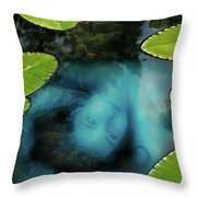 Dead Girl In The Pool Throw Pillow