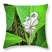 Dead Leaf Live Leaf Throw Pillow