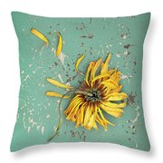 Dead Suflower Throw Pillow