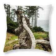 Dead Tree At Ecola Park Throw Pillow