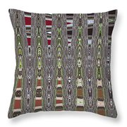 Dead Tree In The Forest Abstract Throw Pillow