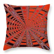 Dead Tree Oval #1 Abstract Throw Pillow