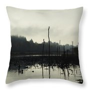 Dead Tree Waters Throw Pillow