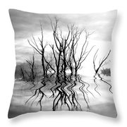 Dead Trees Bw Throw Pillow