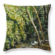 Dead Trees Throw Pillow