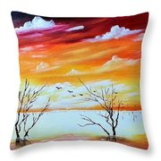Dead Trees Reflection Throw Pillow