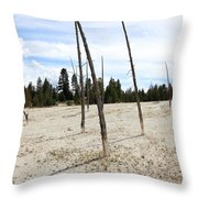 Dead Trees, Yellowstone Throw Pillow