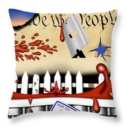 Dead White And Blue I Throw Pillow