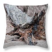 Dead Wood In Color Throw Pillow