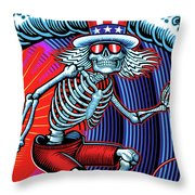 Deadhead Surfer Throw Pillow