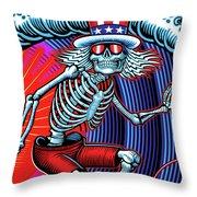 Deadhead Surfer Throw Pillow