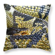 Deadly Details Throw Pillow