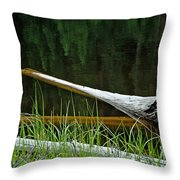 Deadwood And Pine Reflections Throw Pillow