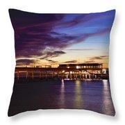 Deal Pier Throw Pillow